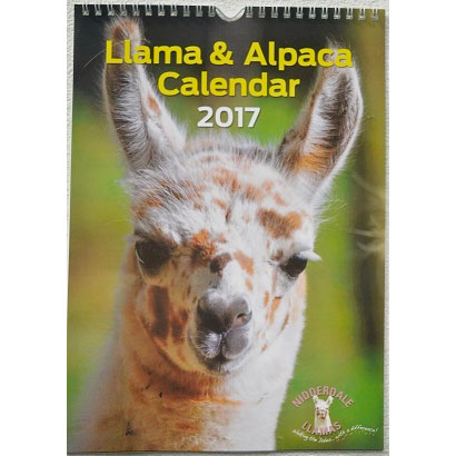 New Llama and Alpaca Calendar 2017